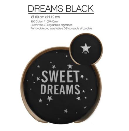 PILLOW Dreams Black (Only pillow)
