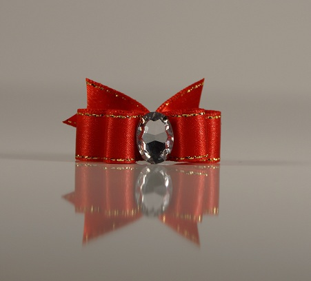 1 Bow Red w. Gold thread