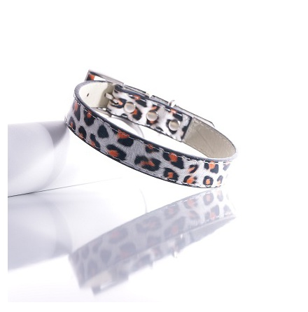 Leopard Collar - White