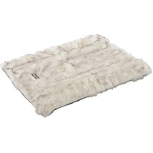 Blanket with fur white