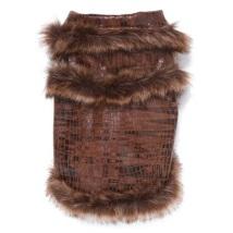 Brown croco jacket