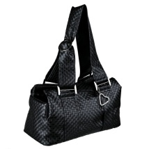 Black art leather bag