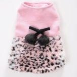 Pink dress leopard