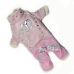 Cosy Pink art leather supersoft overall - for Her