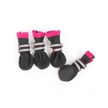 Boots w fleece inside - black/fuchsia 4 Pcs