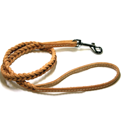WOVEN LEATHER LEASH