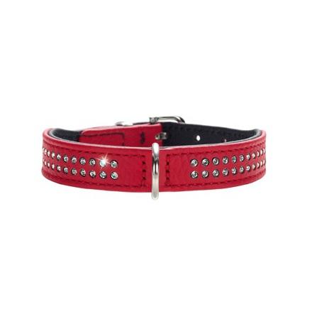 Necklace Nappa w Swarovskies - Red