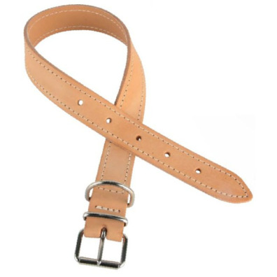 LEATHER COLLAR - NATURAL LIGHT BROWN