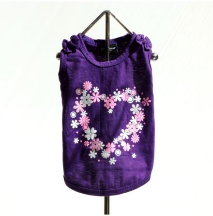 T-shirt purple Heart flower