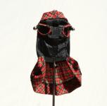 Skull red plaid dress
