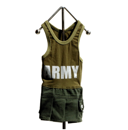 Army girly dress