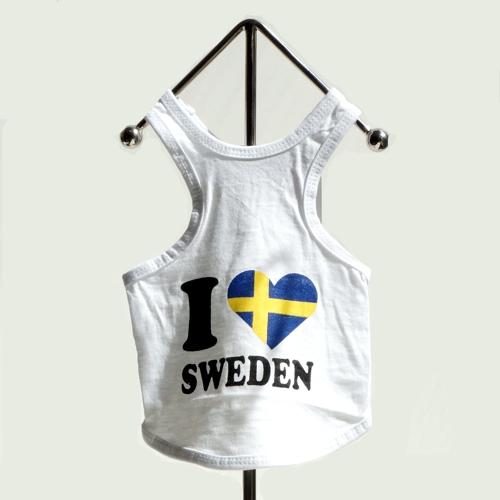 I love Sweden white tee
