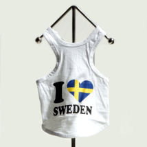I love Sweden white tee