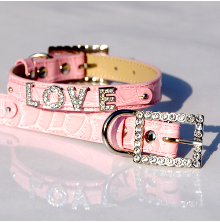 Croco Collar for Letters - Pink (Letters are not included)