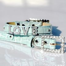 Croco Collar for Letters - Ice Blue (Letters are not included)