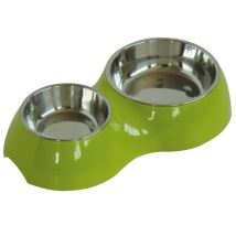 Bowl Double Green Stainless