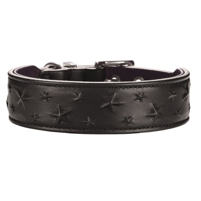 Collar Relief Stars Black Nappa