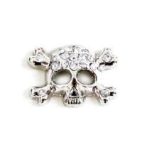 Charm Skull - Crystal white