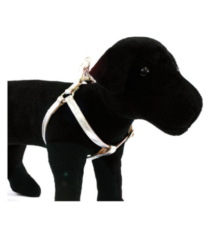 GLOSSY HARNESS SILVER - ADJUSTABLE CM.50-70X20MM