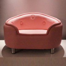 Diva Pink Art Leather Sofa