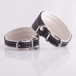 Greyhound Collar Black/White