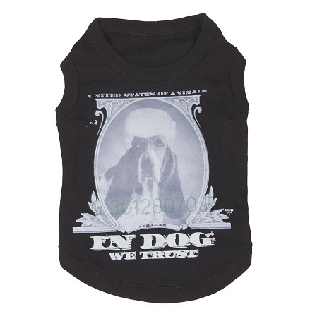 T-Shirt Dog print - Black