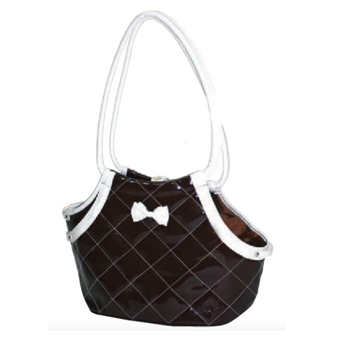 Brown Glossy Bag w. Bow
