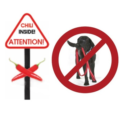 Anti Bite Leash w chili taste - Black