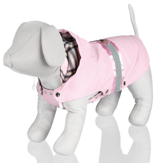 Rain Coat w fleece - Pink Flower
