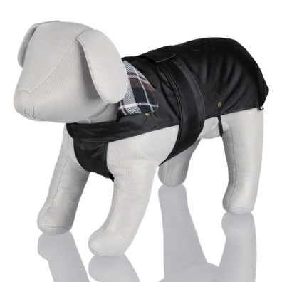 Black dog coat with removable lining