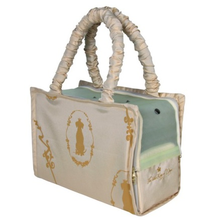 Beige bag with soft fleece inside