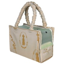 Beige bag with soft fleece inside