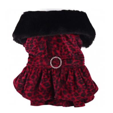 Leopard Dress coat- Red