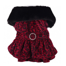 Leopard Dress coat- Red