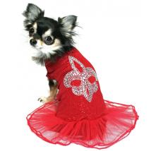 Tuttu Dress w Glitter - Red