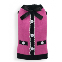 Elsa Pink Cardigan w Double Layers