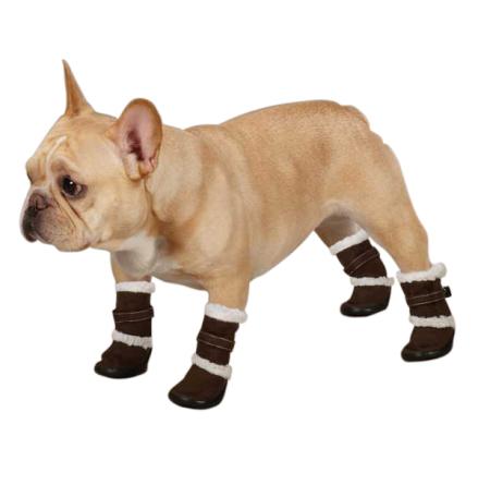 Boot Brown w fur - XXL