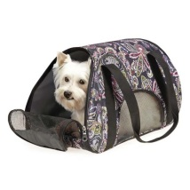 Pet Carrier paisley - Black