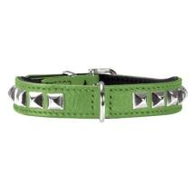 Necklace Nappa w soft studs - Green