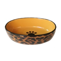 Bowl Oval Leopard