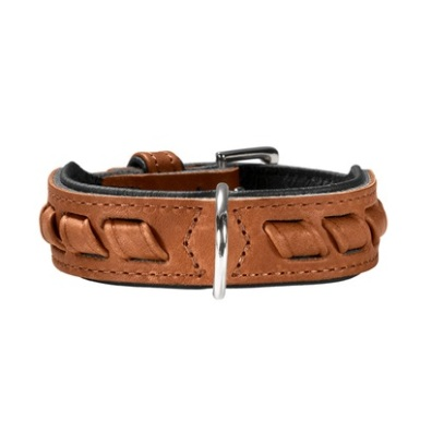 Western Leather Collar-Cognac