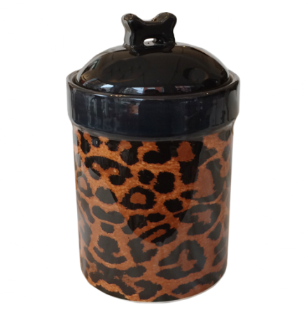 Food/Snack Porcelain Jar - Leopard H:21cm