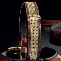 Luxury Swarovski Collar-Brown and Brass