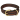 Max Leather woven Collar - Black/Brown