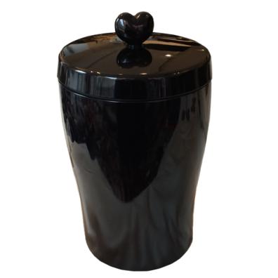 Food/Snack Jar w spoon - Black
