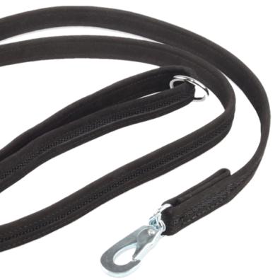 Black suede leash w BGB hook