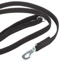 Black suede leash w BGB hook