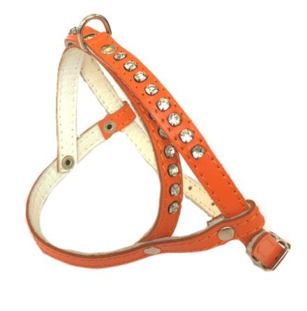 Leather Harness - Orange