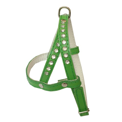 Leather Harness - Green
