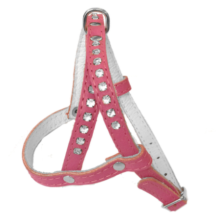 Leather Harness - Darkpink